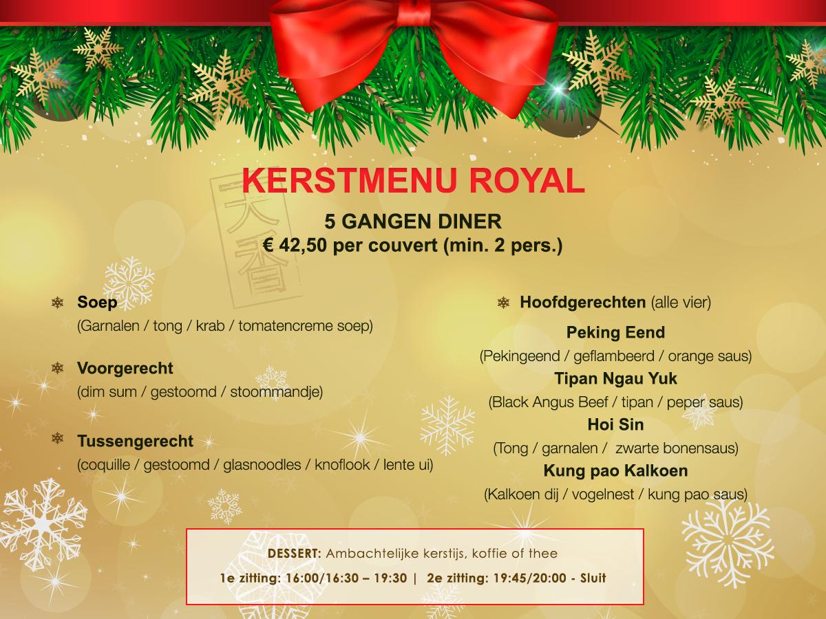 Kerstmenu Royal 2018